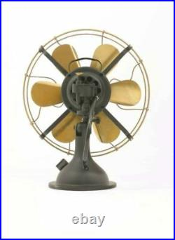 16 Blade Electric Table Desk Fan Oscillating Work 3 Speed Vintage Antique style