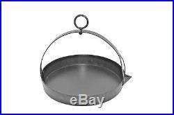 16 Solid Cast Iron Swing Skillet Romany Gypsy Frying Pan, Chitty Pots Shamrock