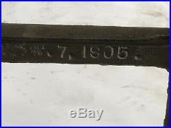1905 New Britain Factory Workbench Cast Iron Legs Industrial Kitchen Island