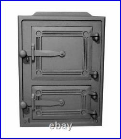 26x35 Cast Iron Fire Door Clay Bread Oven Pizza Stove Smoke House Furnace Grey