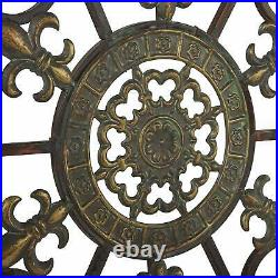 29in Hanging Metal Medallion Wall Art Decor Circular Rustic Antique Outdoor Home