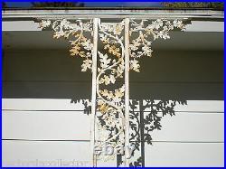 2 Antique Cast Iron Porch Entrance Way Pillars Acorn Leaves Corbels Post Salvage