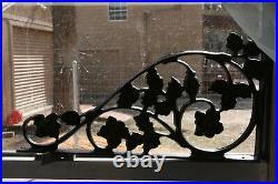 (2) Extra Large Heavy Duty Cast Iron Shelf Brackets Corbels, 16 7/8 inches, B-20