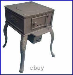3.5kW Cast Iron Coal Wood Burner Stove Heater Shed Summerhouse Workshop Garage