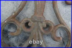 3 Antique Cast Iron Architectural Salvage Ornate Panels