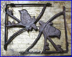 4 Cast Iron Antique Style BLUE BIRD Brackets Garden Braces Shelf Bracket