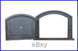 58.5 x 43 cm cast iron fire door clay bread oven doors pizza stove fireplace