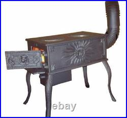 5kW Cast Iron Coal Wood Burner Stove Heater Shed Summerhouse Workshop Garage