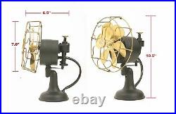 6 Blade Electric Desk Fan Oscillating Orbit Work 3 Speed Vintage Antique style
