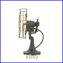 8 Blade Electric Desk Fan Oscillating Orbit Work 3 Speed Vintage Antique style