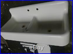 ANTIQUE 1934 STANDARD CAST IRON & PORCELAIN Double Bowl Farmhouse Kitchen Sink