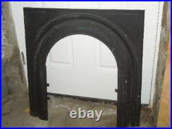 ANTIQUE Cast Iron Fireplace COVER & FRAME MYTHICAL MAIDEN Sharp & Son 1895