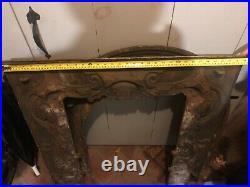 ANTIQUE Cast Iron Fireplace Surround/Insert/Frame