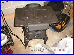 ANTIQUE Cast Iron Wood or Coal Burning Stove For cooking or heating Water