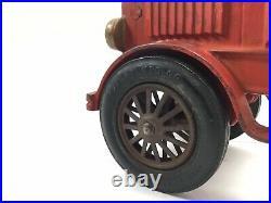 ANTIQUE, ORIGINAL 1930s HUBLEY CAST IRON FIRE LADDER TRUCK