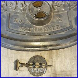 Antique 1852 Parlor Stove VOLUNTEER NO. 1 Mini Cast Iron Wood Stove