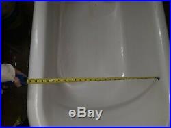 Antique 1920's L. WOLFF MFG CO. Cast Iron & Porcelain 4' Claw Foot Bath Tub