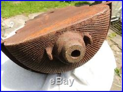 Antique 19th C. Cast Iron, Garden, Wall Fountain Basin, length 25 1/2