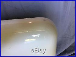 Antique 42 Cast Iron White Porcelain High Back Kitchen Farm Sink Vtg 265-18E