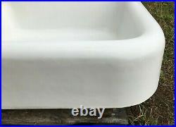 Antique 42 High Back Cast Iron White Porcelain VTG Kitchen Farm Sink 1029-20B