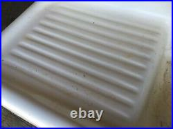 Antique 43 High Back Cast Iron White Porcelain Vtg Kitchen Farm Sink 615-20E
