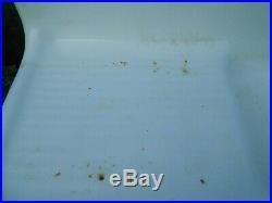 Antique 46 FARMHOUSE KITCHEN SINK WHITE PORCELAIN ENAMEL CAST IRON DRAINBOARD