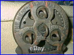 Antique 4 Hook New Era Rope Maker Machine & Tool Long Fairfield Iowa Cast Iron