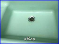 Antique 53 Cast Iron Jadeite Green Porcelain Kitchen Farm Sink Vtg Crane 54-19E