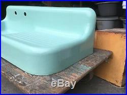 Antique 53 Cast Iron Jadeite Ming Green Porcelain Kitchen Farm Sink Vtg 56-19E