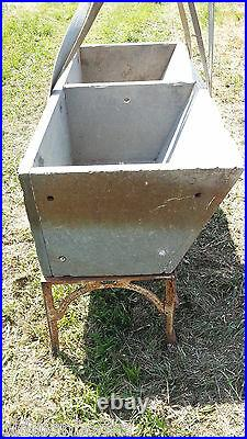 Antique ALBERENE Soapstone Double Basin Slant Front Sink with cast iron legs