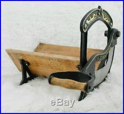Antique ALEXANDERWERK Bread Slicer Cutter Cast-iron Cutting Machine black gold