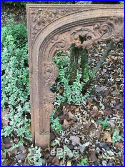Antique Architectural Salvage Victorian Cast Iron Fire Place Cover Plate Hearth