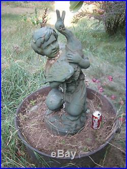 Antique Architectural Water Fountain Cast Iron Flower Garden Statue Sculpture Ny