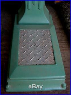 Antique Art Deco Cast Iron Penny Floor Scale Bath Room Statue Sculpture Tool Toy
