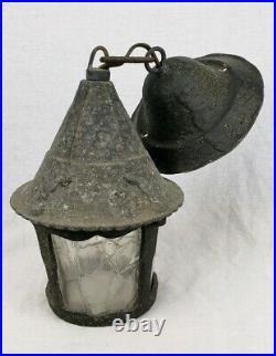 Antique Arts Crafts Cottage Bungalow Lantern Style Porch Light Sconce Witch Hat