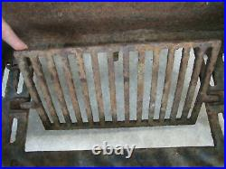 Antique Arts and Crafts Cast Iron Fire Place Grate insert wood coal basket