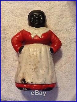Antique Aunt Jemima, MAMMY. Cast Iron. Doorstop, Bank. 8 In