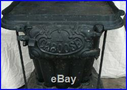 Antique CABOOSE Stove Railroad Wood Coal Train Stove Estate Heavy Cast Iron Rare