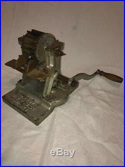 Antique C&B Hard Candy Taffy Knocker Machine Pillow Mint Maker Cast Iron Mold