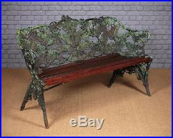 Antique Cast Iron Coalbrookdale Fern & Blackberry Garden Bench c. 1890