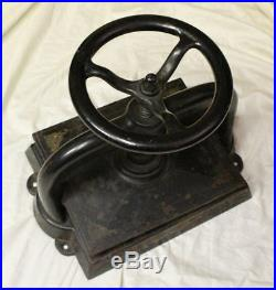 Antique Cast Iron Columbus Merchandise Co. Book Press