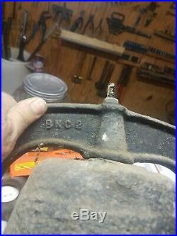Antique Cast Iron Crystal Metal USA No. 2 Bell Farm Dinner School 15 Diameter