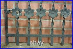 Antique Cast Iron Curly Top Flowers Fence Window Gate Old Architectural Hardware