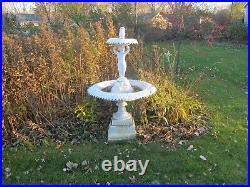 Antique Cast Iron Garden/lawn Flower Urn By Kramer Bros. Queen Model