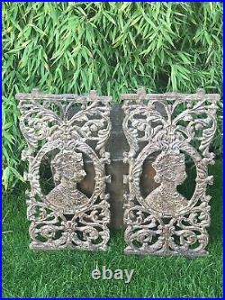Antique Cast Iron Indian Balcony Banister Baluster Panel Queen Victoria Vintage