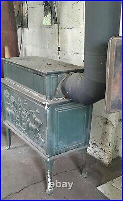 Antique Cast Iron Jotul 118 Wood Stove