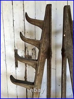 Antique Cast Iron Pipe Stock Racks Vintage Industrial Blacksmith Tools Anvil