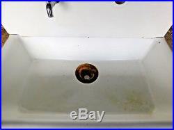 Antique Cast Iron Two Piece Kitchen Farm Sink C. 1920 Architectural Salvage