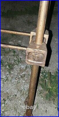 Antique Cast Wrought Iron Full Size Bed Frame Headboard Footboard & Side Rails