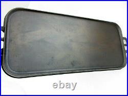 Antique Erie Cast Iron Griddle Pre Griswold #7 (fancy) 7 3/4 X 18 1/2 1905 G03